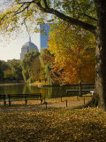 Public Gardens in the Fall, Boston, MA Photographic Print by James Lemass