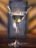 Martini with Olive Photographic Print by Ellen Kamp