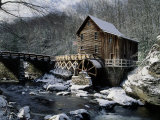 Grist Mill and Glade Creek, Badcock State Park, WV Photographic Print by David Davis
