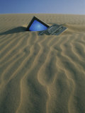 Computer Buried in Sand Photographic Print by Kevin Leigh