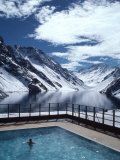 Pool and Lake Inca, Portillo Ski Resort, Chile Photographic Print by Pat Canova