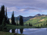 Sky and Tree Reflected in River, Gunnison Nf, CO Photographic Print by Don Grall