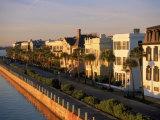 Historic Houses on Harbor, Charleston, SC Fotografie-Druck von Ron Rocz
