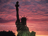 Statue of Liberty at Sunset, NYC Photographic Print by Whitney &amp; Irma Sevin