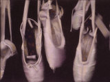 Worn Ballet Shoes Hanging in a Window Fotografie-Druck von Jim Kelly
