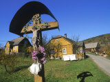 Religious Shrine Near Homes, Poland Photographic Print by Eric Horan