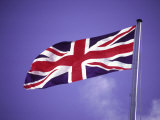 British Flag Flying on a Pole Photographic Print by Francie Manning
