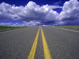 Highway No.283 Leading Into Horizon, New Mexico Photographic Print by E. J. West