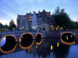 Prinsengracht Canal, Amsterdam, Holland Photographic Print by Walter Bibikow