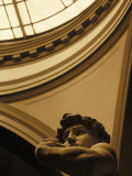 Close-up of Michelangelo's Statue of David, Italy Photographic Print by Lonnie Duka