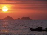 Arpoador Beach, Cagaras Island, Rio de Janeiro, Brazil Photographic Print by Silvestre Machado