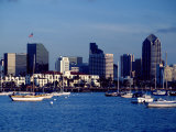 Skyline and Boats, San Diego, CA Photographic Print by Inga Spence