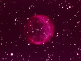 Ball of Red Gas in Space Fotografie-Druck von Arnie Rosner