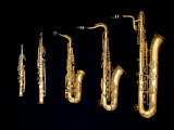 Different Sized Saxophones Fotografie-Druck von Gary Conner