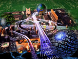 Information Superhighway Photographic Print by Jon Riley