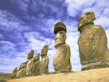 15 Moais, Ahu Tongariki, Easter Island, Chile Photographic Print by Walter Bibikow