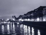 View of Ile St. Louis, Seine River, France Photographic Print by Walter Bibikow