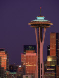 Space Needle and Seattle Skyline, Washington Photographic Print by Jim Corwin