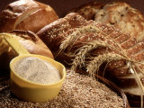 Wheat and Wheat Products Fotografie-Druck von Carol & Mike Werner