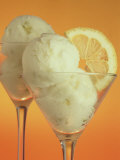 Glasses of Lemon Sherbert with Slice of Lemon Fotografie-Druck von John James Wood