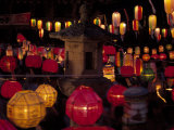 Lit Lanterns, South Korea Photographic Print by Thomas McGuire