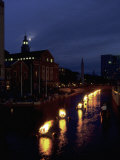 Waterplace Park at Night, Providence, RI Fotografie-Druck von James Lemass