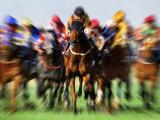 Horse Race in Motion Fotografisk trykk av Peter Walton