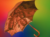 Financial Umbrella Photographic Print by Carol & Mike Werner