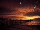 Sunset, Naples Pier Photographic Print by Jim Schwabel