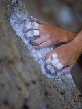 Close-up of Rock Climber's Hands, CA Fotografisk tryk af Greg Epperson
