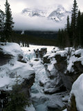 Athabasca Falls in Winter, Jasper National Park, Alberta, Canada Photographic Print by Michele Burgess