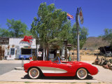 1957 Chevrolet Corvette, Hackberry, AZ Fotografie-Druck von David Ball