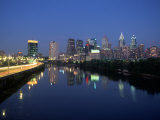 Skyline and Schuykill River, Philadelphia, PA Photographic Print by James Lemass