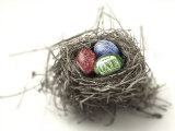 US Money Painted on Eggs in Nest Fotoprint av Jon Riley