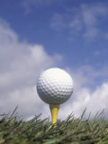 Golf Ball on Tee Photographic Print by Steve Wanke