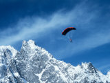 Para-skier, Mt Blanc, Italy/France Papier Photo par Pat Canova