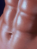 Detail of a Man's Abdominal Muscles Photographic Print by Katie Deits