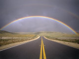Rainbow Over Highway, CA Photographic Print by Thomas Winz