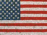 American Flag in Mosaic Fotodruck von Rudi Von Briel