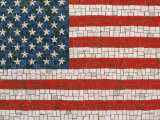 American Flag in Mosaic Photographic Print by Rudi Von Briel