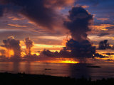Sunset Over Harbor, Saipan Photographic Print by Francie Manning