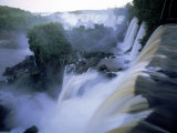 View of Iguazu Falls from Argentine Side Fotografiskt tryck av Steven Emery
