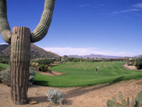 The Boulders Golf Course, Phoenix, AZ Fotografisk trykk av Bill Bachmann