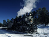 The Grand Canyon Train with Snow on Ground Photographic Print by Lynn Eodice
