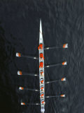 Aerial of Rowing Crew in Motion Photographic Print by Stuart Westmorland