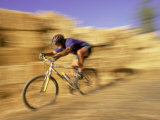 Mountain Biker in Motion Photographic Print by Jack Affleck