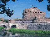 Ponte Sant&#39;Angelo, Rome Photographic Print by Claire Rydell