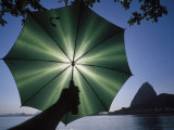 Green Umbrella, Rio de Janeiro, Brazil Photographic Print by Silvestre Machado