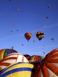 Colorful Hot Air Balloons, Albuquerque, NM Fotodruck von Bill Bachmann