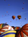 Colorful Hot Air Balloons, Albuquerque, NM Photographic Print by Bill Bachmann